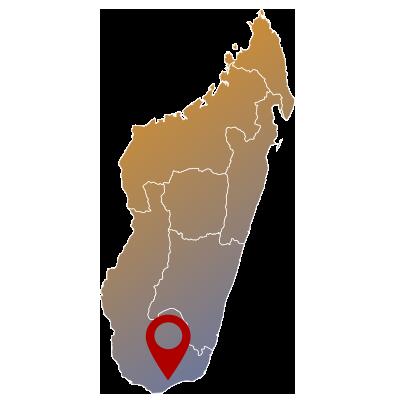 A SUD DEL CONFINE mappa - Namatours viaggi solidali Madagascar